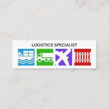 oversize colorful logistics motif mini business card