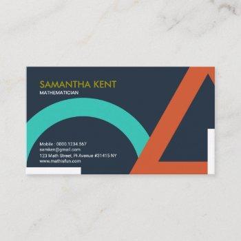 oversize geometric shapes math mathematician business card