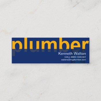 oversize plumber signage leaking water mini business card