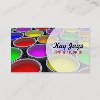 paint cans business card