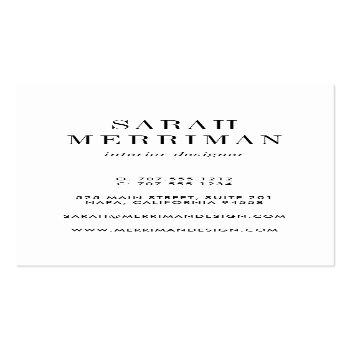 Small Paint Chip | Editable Color Interior Designer Business Card Back View