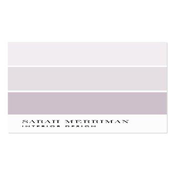 Small Paint Chip | Editable Color Interior Designer Business Card Front View