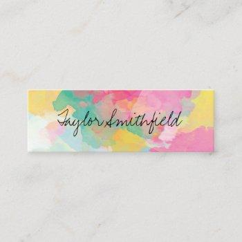 paint splash mini business card