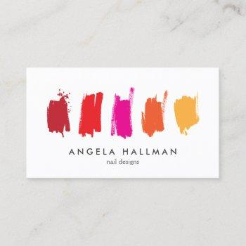 paint swatches red/orange business card