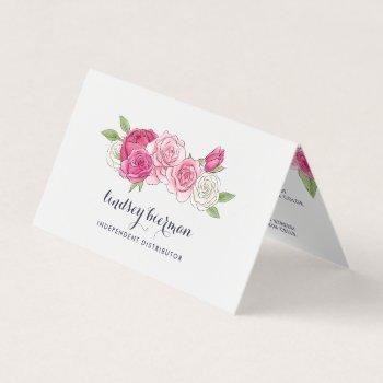 painted rose lip product distributor tips & tricks business card
