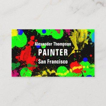 painter - business card. business card
