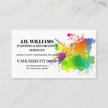 painter & decorator | interior and exterior business card