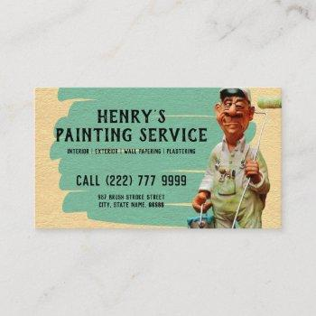 painter & decorator | interior and exterior diy business card