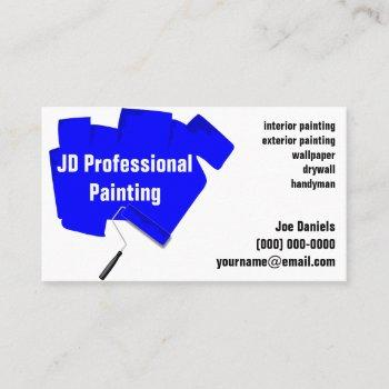 painter paint roller painting business card