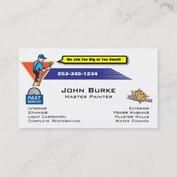 painter painting contractor business card