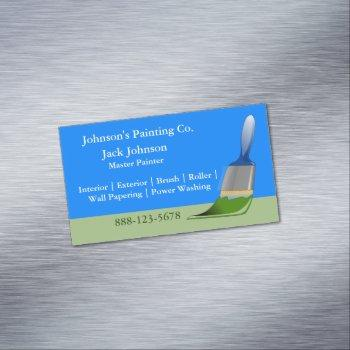 painter painting paint brush magnetic business card