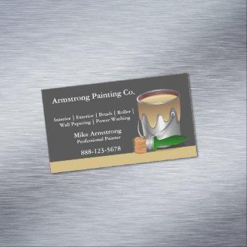 painter painting paint can brush magnetic business card