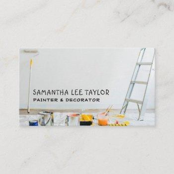 painting equipment, painter & decorator business card