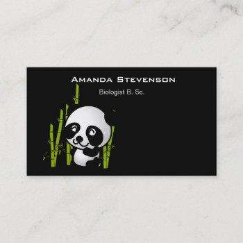 panda bear in his little bamboo grove business card