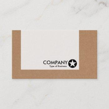 panel - star - cardboard box business card
