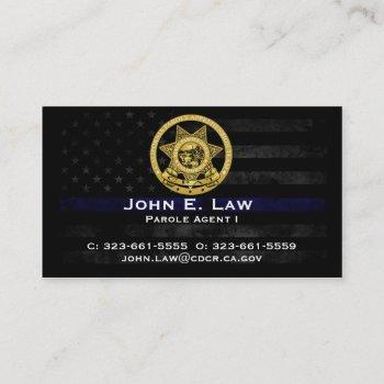 parole agent business card - cpat
