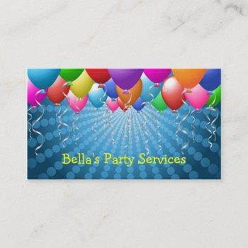party planner business card