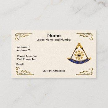 past master profile/business card
