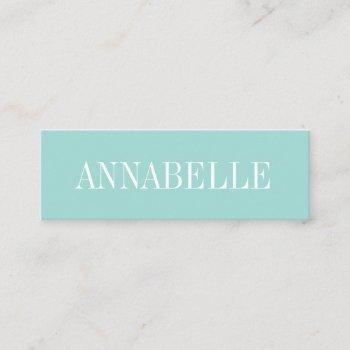 pastel blue minimalist trendy modern business card