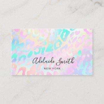 pastel colors animal skin pattern business card