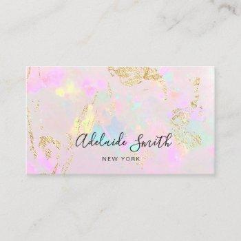 pastel opal texture mineral business card