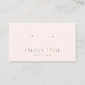pastel pink classic and chic jewelry display card