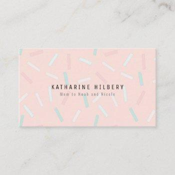 pastel sprinkles pink mommy business card