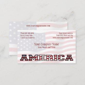 patriotic america government non profit business business card