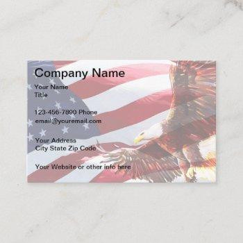 patriotic american eagle theme business card