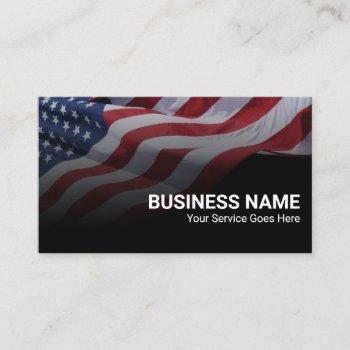 patriotic american flag military veteran service business card