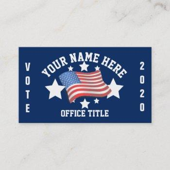 patriotic campaign template business card