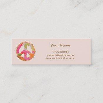 peace sign mini profile card