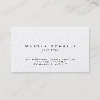 pearl modern plain simple trendy business card