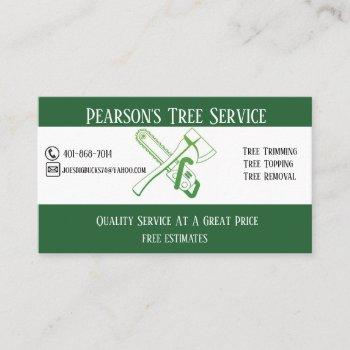 pearson's tree service business card