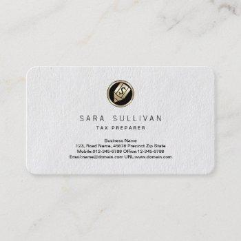 pen dollar icon tax preparer premium businesscard business card
