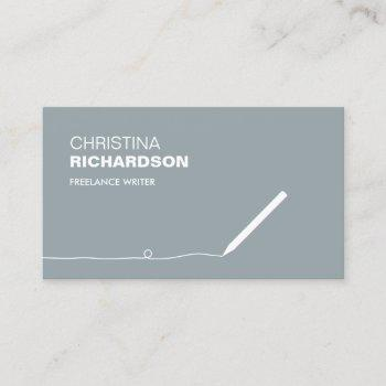 pencil business card for authors & writers iii