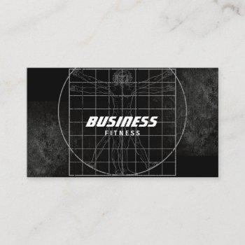 perfect body grunge dark fitness training business card
