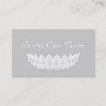perfect white smile simple grey dentistry card
