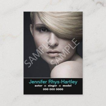 performers resume and headshot business card