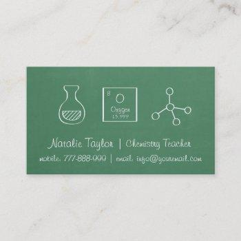 periodic chemistry science teacher business cards