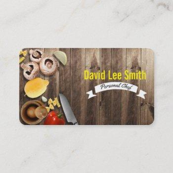 personal chef/catering service/cook service business card