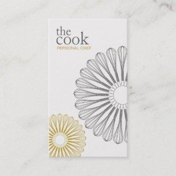 personal chef, catering, whisk, culinary business card