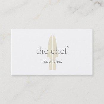 personal chef knife logo culinary catering business card