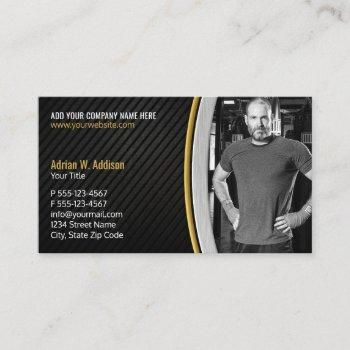 personal fitness trainer gym boxing instructor appointment card