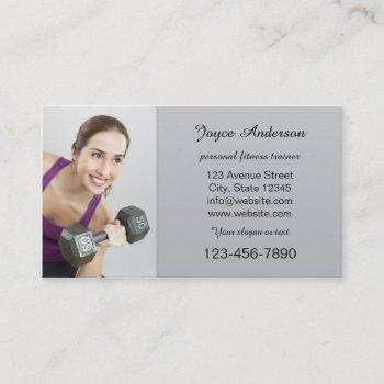 personal fitness trainer photo business card
