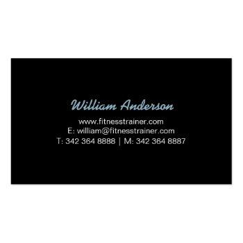 Small Personal Trainer Business Cards | Rustic Military Back View