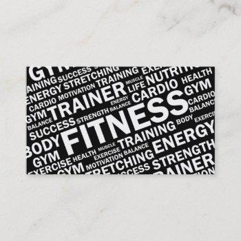 personal trainer & fitness business card