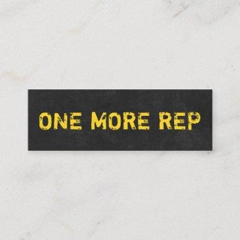 personal trainer fitness coach modern black grunge mini business card