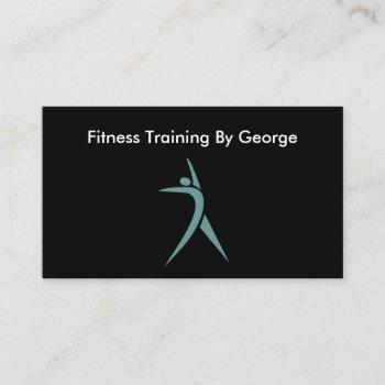 personal trainer professional design business card