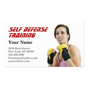 Small Personal Trainer Self Defense Business Card Front View